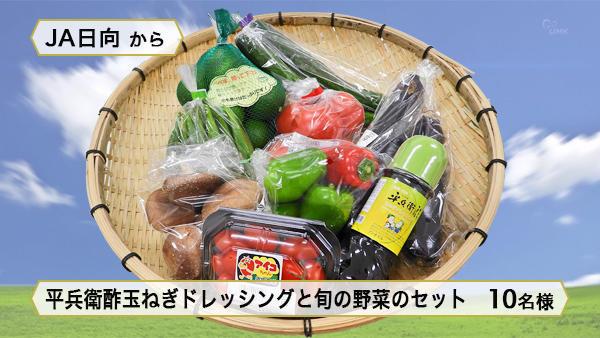 平兵衛酢玉ねぎドレッシングと旬の野菜のセット