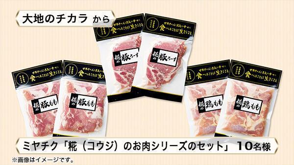 ミヤチク「糀(コウジ)のお肉シリーズのセット」