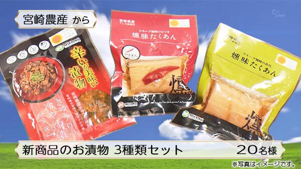 新商品のお漬物 3種類セット