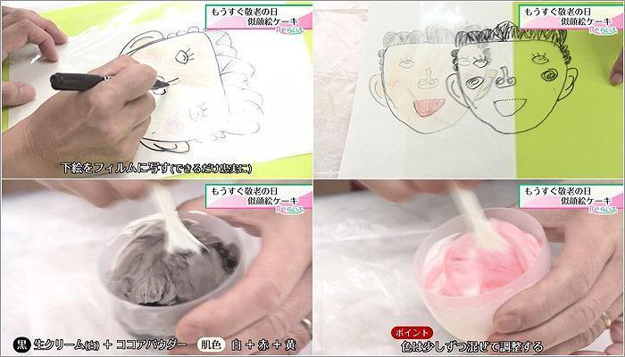 04 似顔絵ケーキの作り方 1