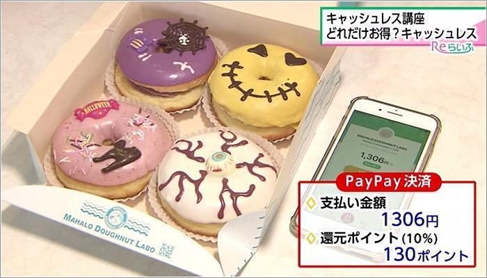04 ドーナツを「PayPay」で支払い
