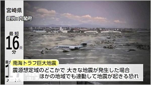 連動型の地震について注意