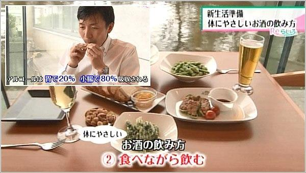 食べながら飲む
