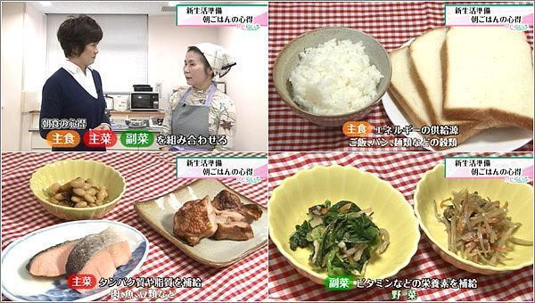 主食・主菜・副菜を組み合わせる