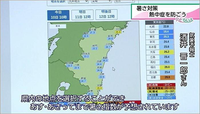 05 天気情報の「暑さ指数」