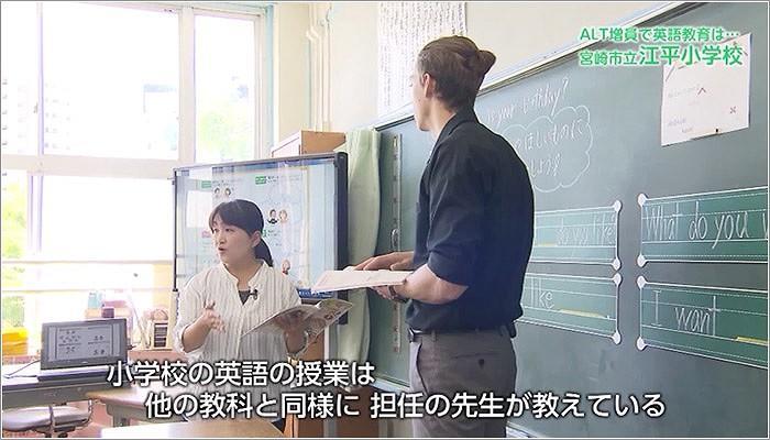 08 ルーカス先生と担任の先生が一緒に授業をする様子