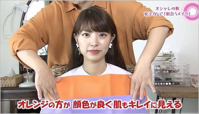 02 カラー判断をする永井アナ