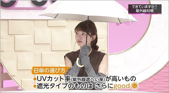 03 永井アナの日焼け止め対策